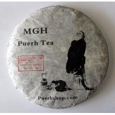 2010 MGH 1004 Mangzhi Ancient Tree Green Pu-erh Tea Cake 357g