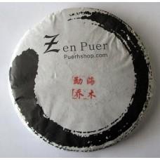 2014 Zenpuer 1406 Menghai Qiaomu Green Pu-erh Tea Cake 357g